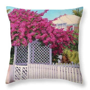Bougainvillea Crown Throw Pillow
