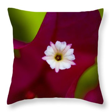 Bougainvillea Throw Pillow by Marlo Horne