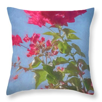 Bougainvillea Morning Throw Pillow