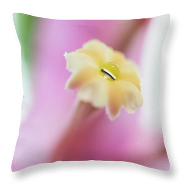 Bougainvillea Splash Throw Pillow