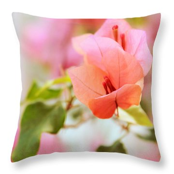 Bougainvillea Whispers Throw Pillow