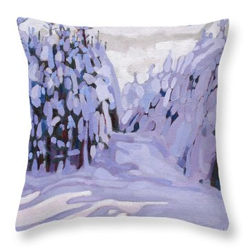 Boughs Before The Wind Throw Pillow