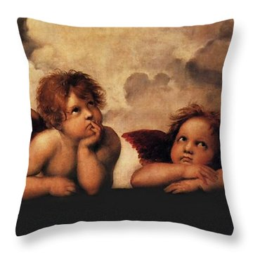 Bouguereau Painting Fresh Paint  Throw Pillow by Catherine Lott