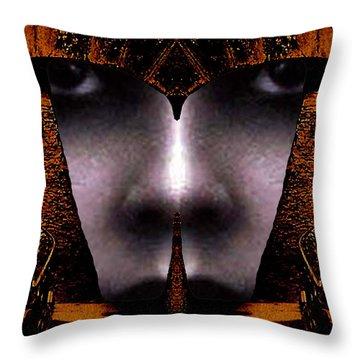 Bouillon Girl Throw Pillow by Rodger Insh