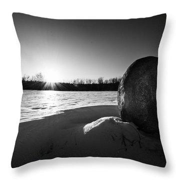 Boulder At Sunset Throw Pillow