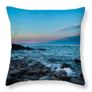 Throw Pillow featuring the photograph Boulder Beach by Jeff Phillippi