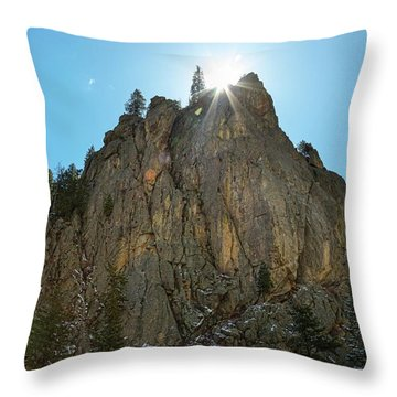 Throw Pillow featuring the photograph Boulder Canyon Narrows Pinnacle by James BO Insogna