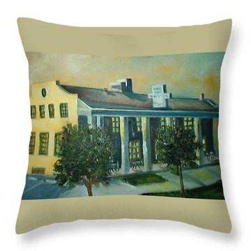 Boulder Dam Hotel, Boulder City, Nevada Throw Pillow
