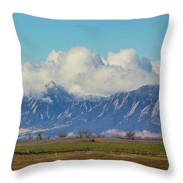 Throw Pillow featuring the photograph Boulder Colorado Front Range Cloud Pile On by James BO Insogna