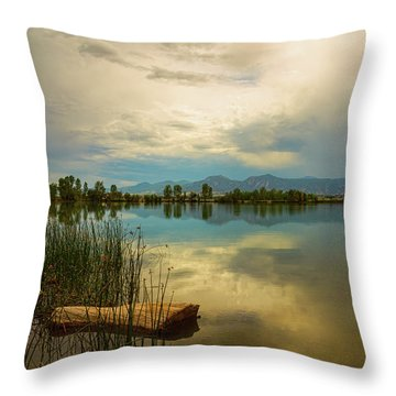 Throw Pillow featuring the photograph Boulder County Colorado Calm Before The Storm by James BO Insogna