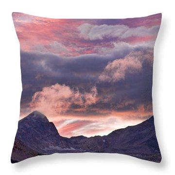 Boulder County Colorado Indian Peaks At Sunset Throw Pillow by James BO  Insogna