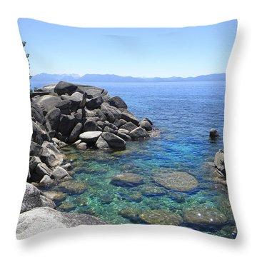 Boulder Cove On Lake Tahoe Throw Pillow