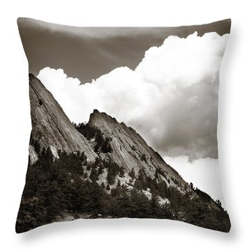 Large Cloud Over Flatirons Throw Pillow