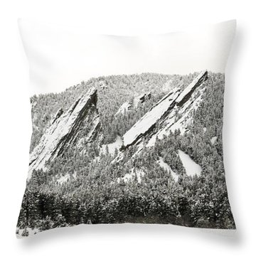 Boulder Flatirons Colorado 1 Throw Pillow