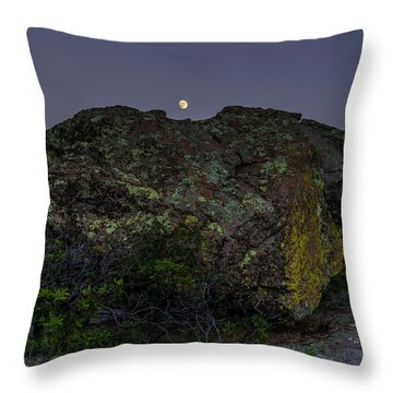 Boulder Moonrise Throw Pillow