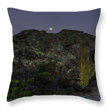 Boulder Moonrise Throw Pillow