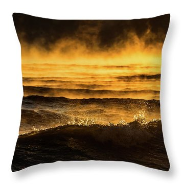 Fire Lake Throw Pillow