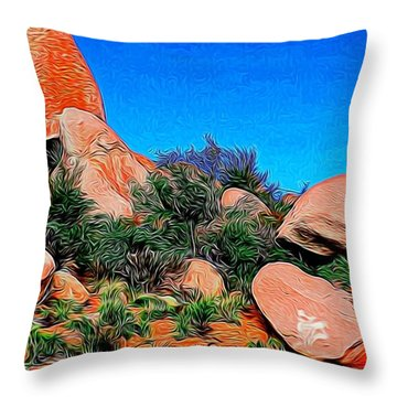 Boulders 7 In Abstract Throw Pillow