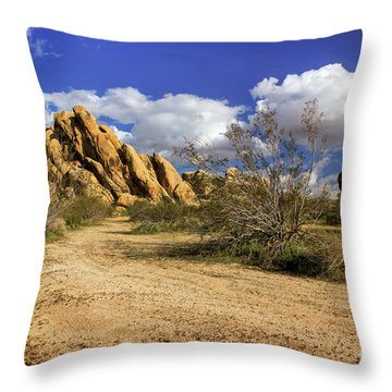 Boulders At Apple Valley Throw Pillow by James Eddy