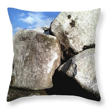 Throw Pillow featuring the photograph Boulders by Rebecca Harman