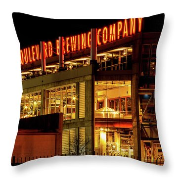 Boulevard Beer Sign Throw Pillow