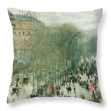 Boulevard Des Capucines Throw Pillow