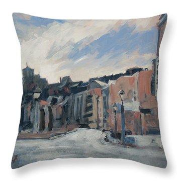 Boulevard La Sauveniere Liege Throw Pillow