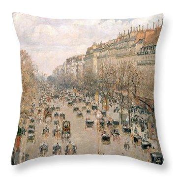 Boulevard Montmartre Afternoon Sun Throw Pillow