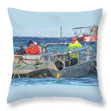 Throw Pillow featuring the photograph Bouncing Herring by Randy Hall