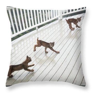Throw Pillow featuring the photograph Bouncing Is Best by Tim Newton