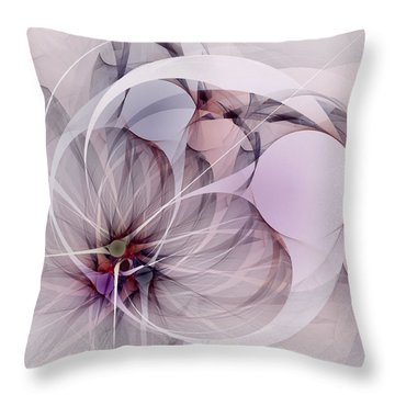 Throw Pillow featuring the digital art Bound Away - Fractal Art by NirvanaBlues