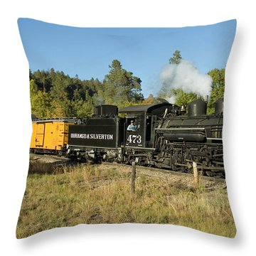 Bound For Durango Throw Pillow by Jerry McElroy