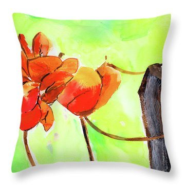 Throw Pillow featuring the painting Bound Yet Free by Anil Nene
