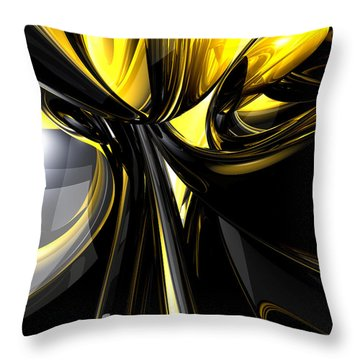 Bounded By Light Abstract Throw Pillow by Alexander Butler