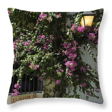 Boungainvillea Throw Pillow