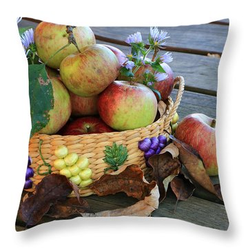 Throw Pillow featuring the photograph Bountiful Harvest by Rick Morgan
