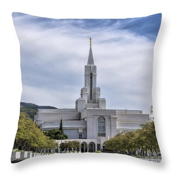 Bountiful Temple In Summer Throw Pillow