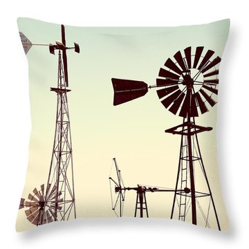 Bountiful Windmills Throw Pillow
