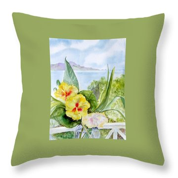 Bounty On The Balcony Throw Pillow