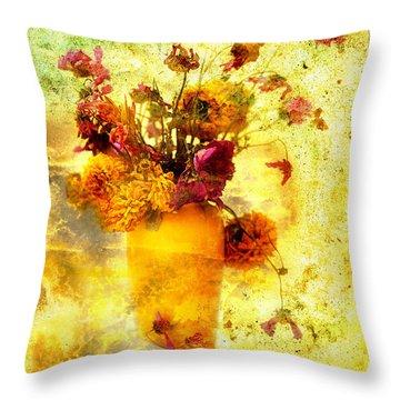 Bouquet Throw Pillow by Bernard Jaubert