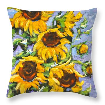 Bouquet Del Sol Sunflowers Throw Pillow