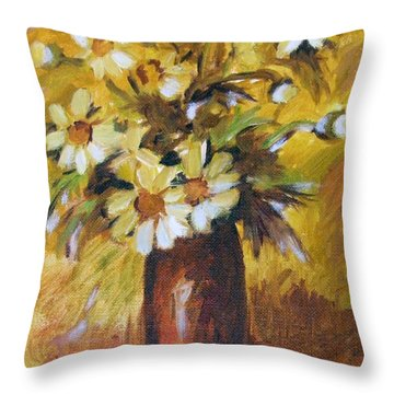 Bouquet Flowers Of Gold Throw Pillow