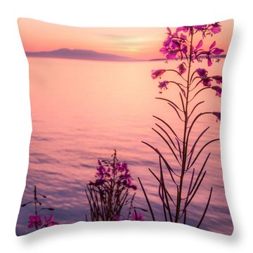 Throw Pillow featuring the photograph Bouquet For A Sleeping Lady by Tim Newton
