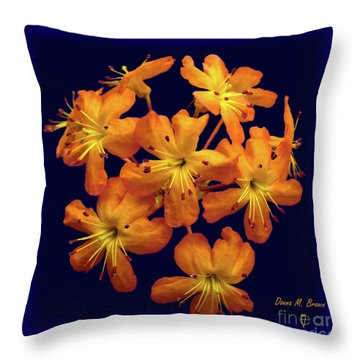 Throw Pillow featuring the digital art Bouquet In A Box by Donna Brown
