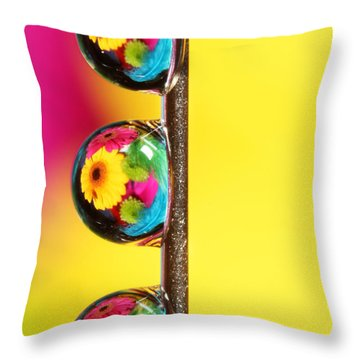 Bouquet In A Pin Drop Throw Pillow