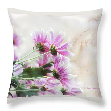 Throw Pillow featuring the photograph Bouquet In Pink by Joan Bertucci