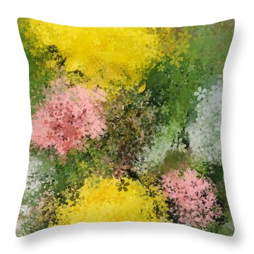 Bouquet Throw Pillow