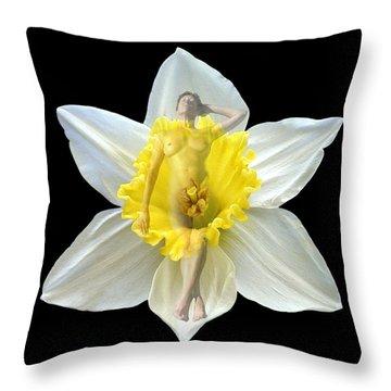Bouquet Throw Pillow by Kurt Van Wagner