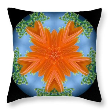 Bouquet Mandala Throw Pillow