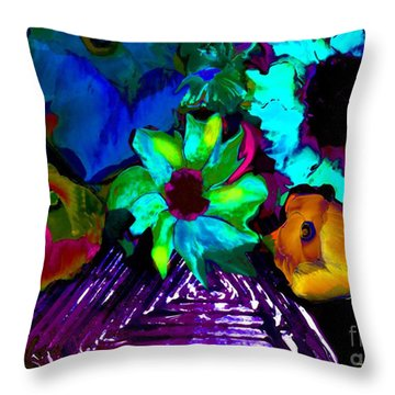 Bouquet In Fauve Throw Pillow